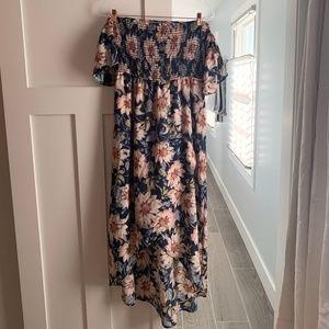 PinkBlush - Off Shoulder Floral Dress